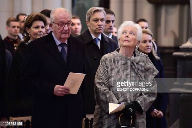 King Albert II of Belgium and Queen Paola of Belgium pictured during a special Mass to commemorate the deceased members of the Belgian Royal Family...
