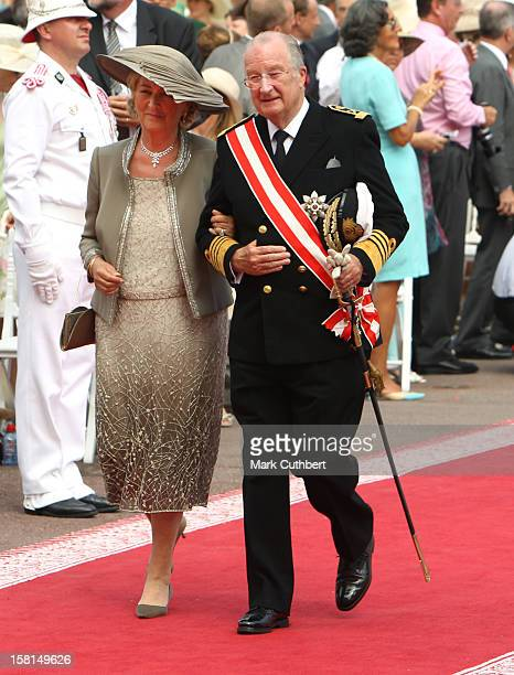 King Albert Ii Of Belgium And Queen Paolo Of Belgium Arriving At The Royal Palace In Monaco For The Wedding Of Hsh Prince Albert Ii Of Monaco To Miss...