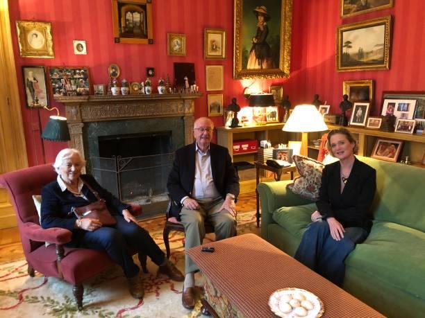 BEL: King Albert II Of Belgium, Queen Paola And Princess Delphine of Belgium Meet In Brussels