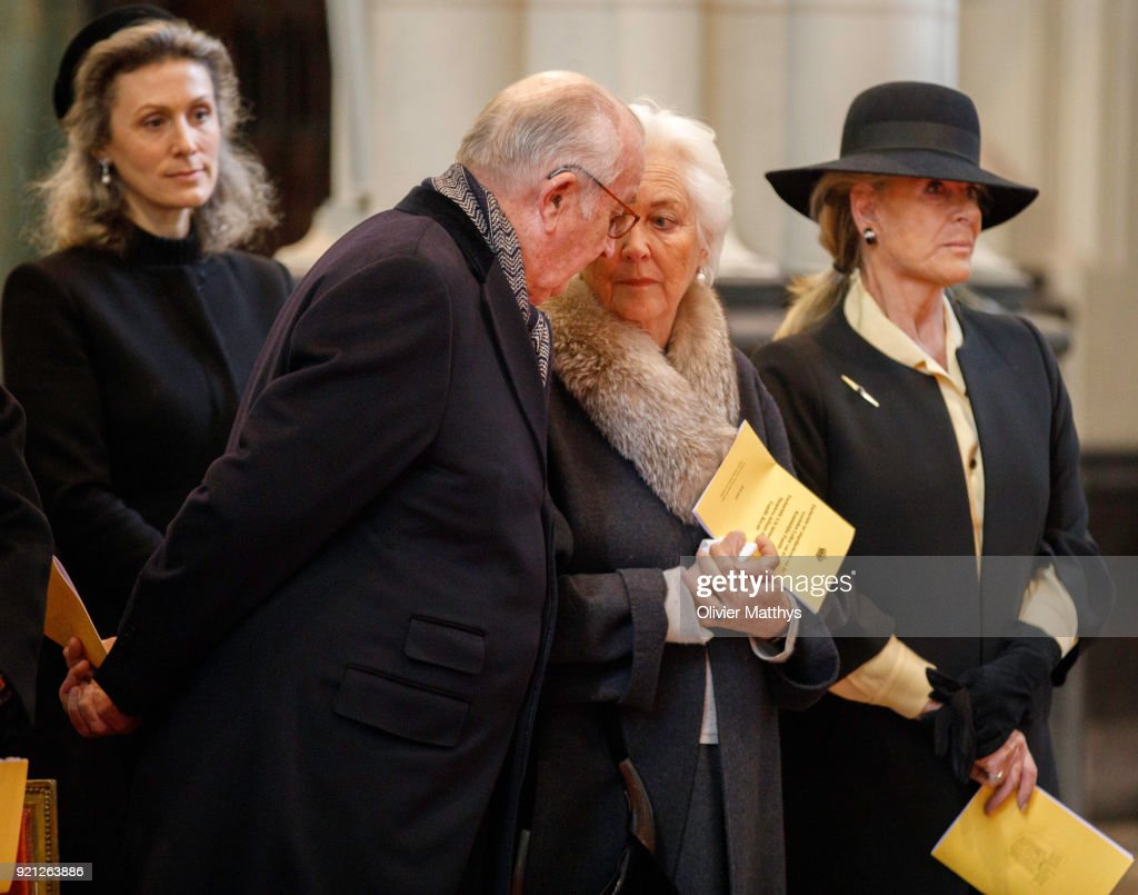 Belgium Royal Family  Attends A Mass Commemoration At Our Lady Church In Brussels : News Photo