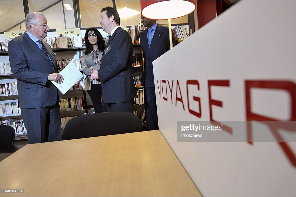 King Albert II Visits French Alliance Office In Brussels