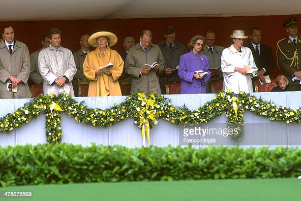 King Albert of Belgium and Queen Paola attend the Beatification Ceremony for Blessed Father Damien held by Pope John Paul II at the Basilica of the...