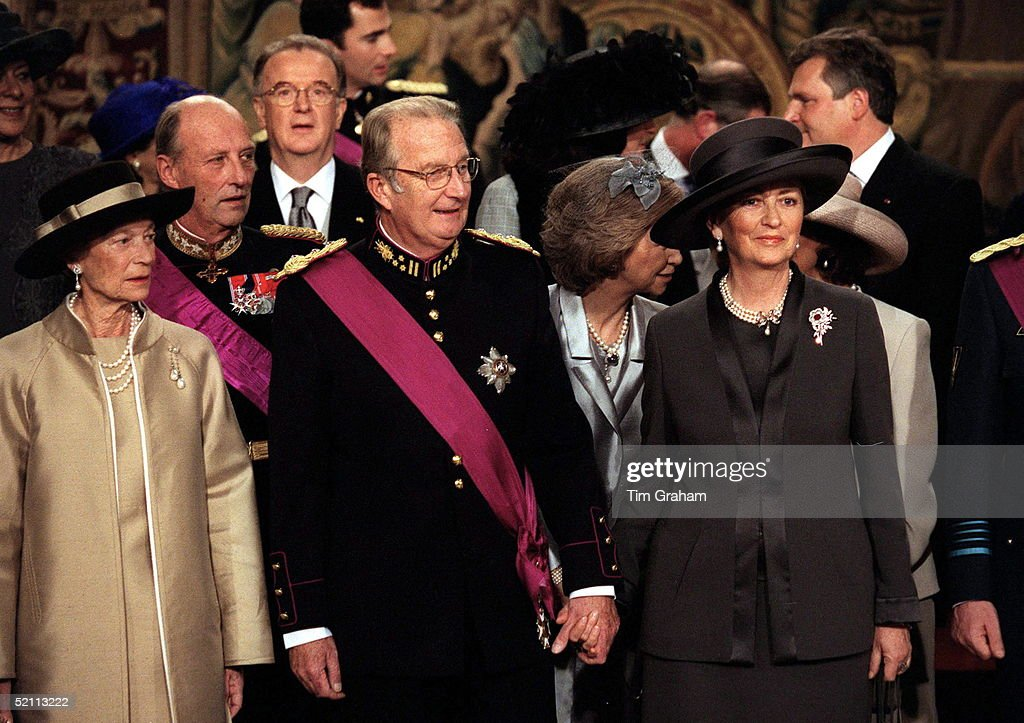 King Albert, Queen Paola And Dss Luxembourg : News Photo