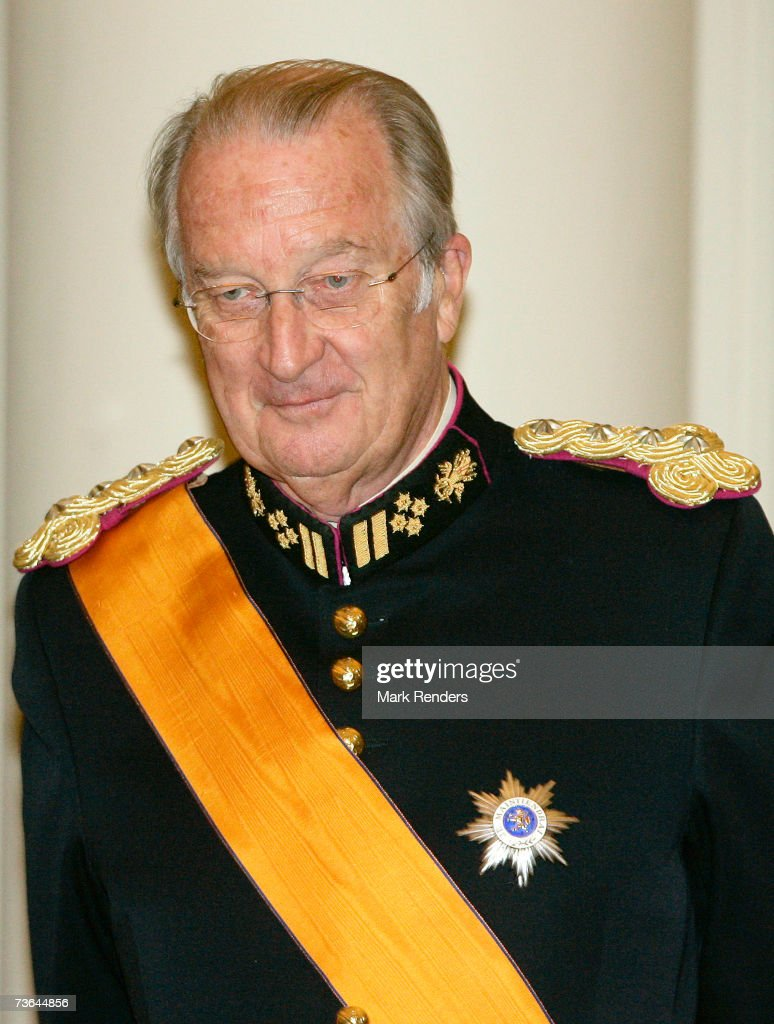 King Albert poses for a photo at Laeken Castle on March 20 , 2007 in Brussels, Belgium. The Grand Duke From Luxembourg and his wife Maria Theresa are in Belgium for a three day during State Visit.