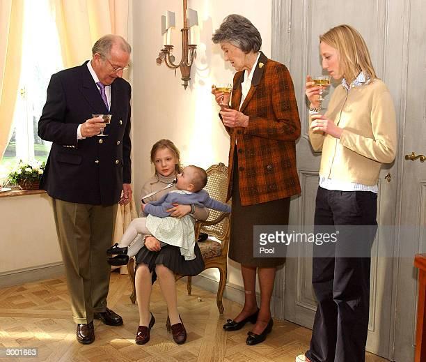 King Albert Princess LaetitiaMaria Princess LouisaMaria and Archduchess Margherita d'AutricheEst attend a photocall to celebrate Prince Amedeo's 18th...