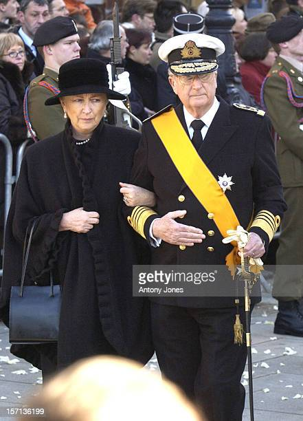 King Albert Queen Paola Attend The Funeral Of Grand Duchess JosephineCharlotte Of Luxembourg At The Cathedral NotreDame Du Luxembourg