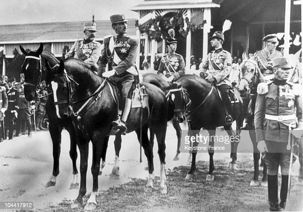 King ALEXANDER 1st of Yugoslavia the Duke of York and Prince CAROL II of Romania around 1933