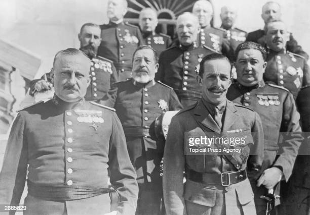 King Alfonso of Spain with General Jose Antonio Primo de Rivera and other cabinet members The king supported de Rivera's military dictatorship