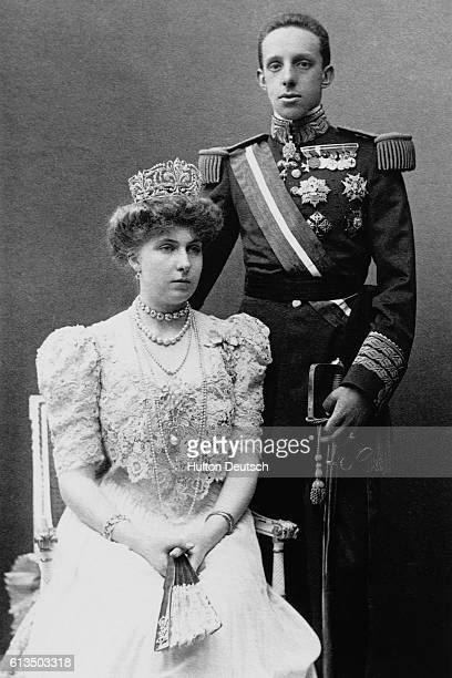 King Alfonso XIII and Queen Victoria Eugenie