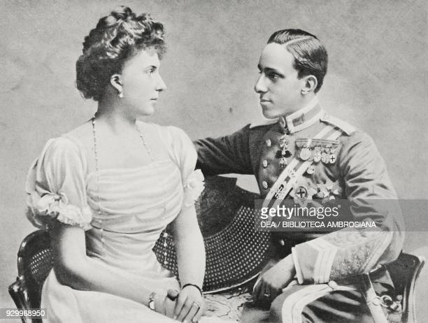 King Alfonso XIII of Spain and Queen Victoria Eugenia photograph by Adolfo Croce from L'Illustrazione Italiana Year XXXIII No 23 June 10 1906