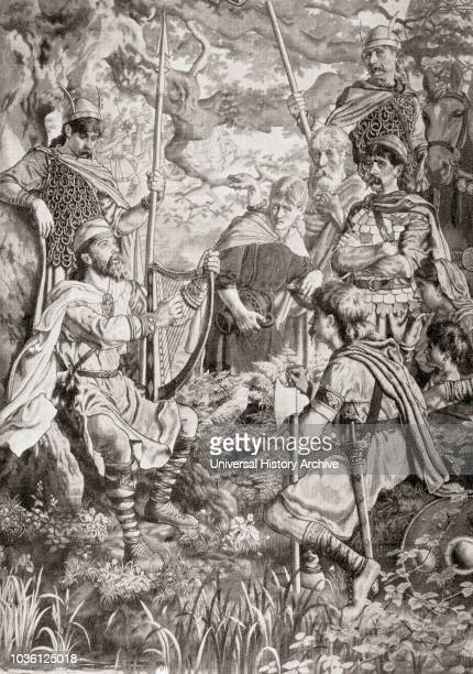 King Alfred disguised as a strolling minstrel and playing the harp in the Danish camp of Guthrum 878 Alfred the Great 849 899 King of Wessex From...