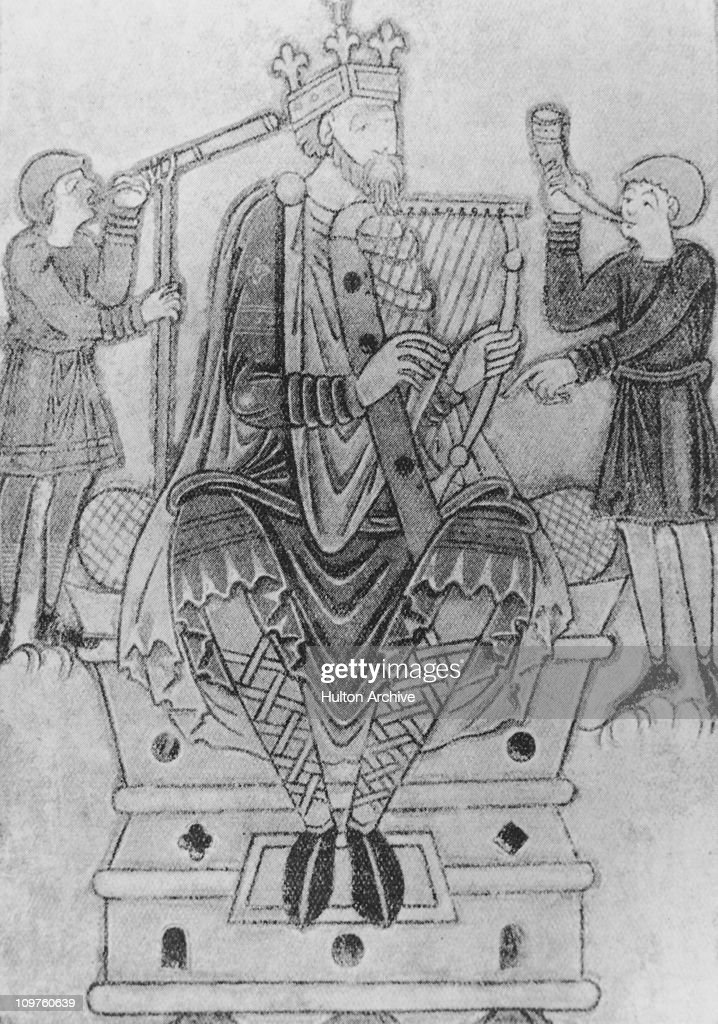 King Alfred the Great (848 - 899), King of Wessex, circa 890.