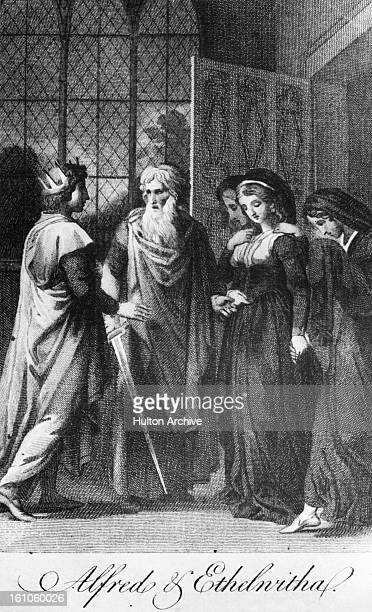 King Alfred the Great of Wessex with his wife Ealhswith of Mercia circa 875
