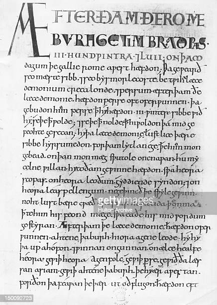 King Alfred the Great's translation of the 'Compendious History of the World' by Paulus Orosius from Latin into AngloSaxon or Old English From an...