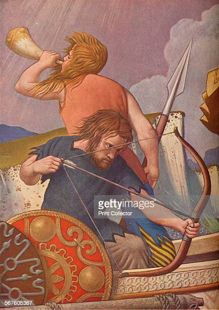 'King Alfred's longships defeat the Danes 877' 19251927 One of the murals from St Stephen's Hall Palace of Westminster London From The Studio Volume...