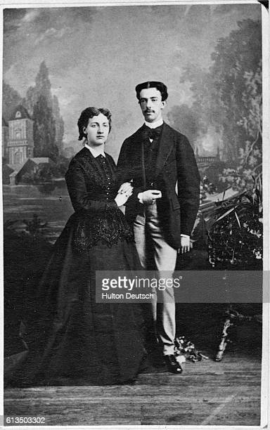 King Amadeo I of Spain poses with Queen Maria