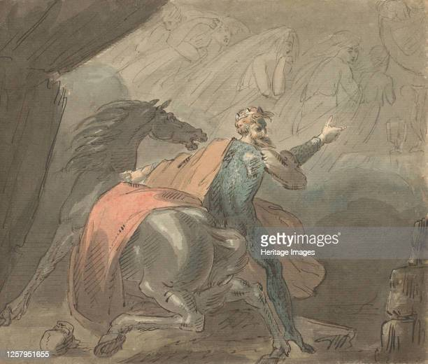 A King and a Horse with Ghostly Women 177080 Artist William Hamilton