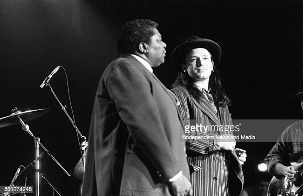 BB King and Bono on stage at The Point 26/12/89 During U2's 'Lovetown Tour' of 1989 the legendary blues musician joined them on stage at all but one...