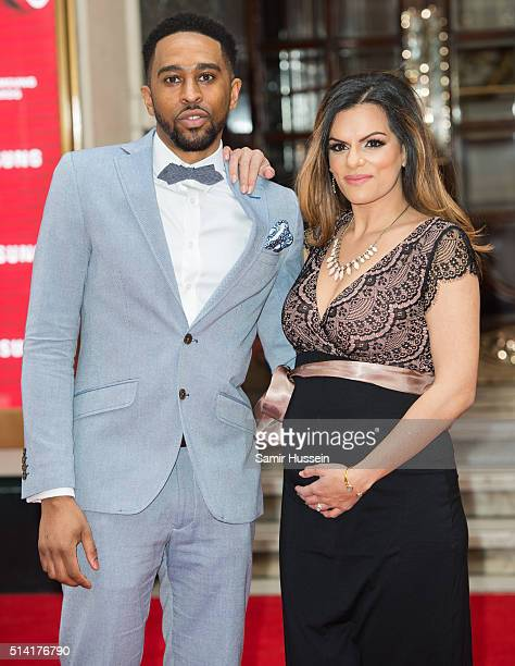King and DJ Neev arrive at The Prince's Trust Celebrate Success Awards at London Palladium on March 7 2016 in London England