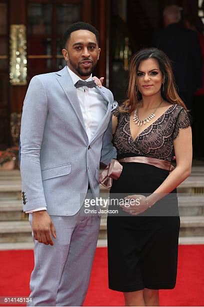 King and DJ Neev arrive to attend The Prince's Trust Celebrate Success Awards at London Palladium on March 7 2016 in London England