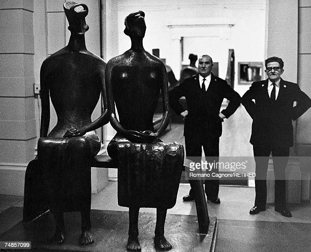 'King And Queen' a sculpture by Henry Moore on display at the Tate Gallery London 1967