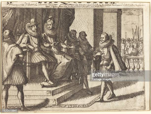 King and Queen in Consultation about the Turks [recto], 1612. Artist Jacques Callot.