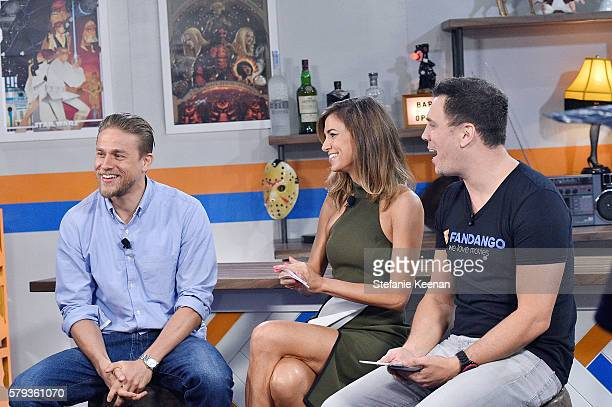 Legend of the SwordÓ cast member Charlie Hunnam visits with Nikki Novak and Kristian Harloff at the Fandango Studio at San Diego ComicCon...