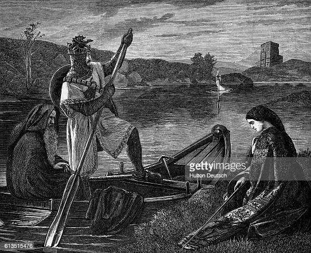 King Arthur Obtains Excalibur