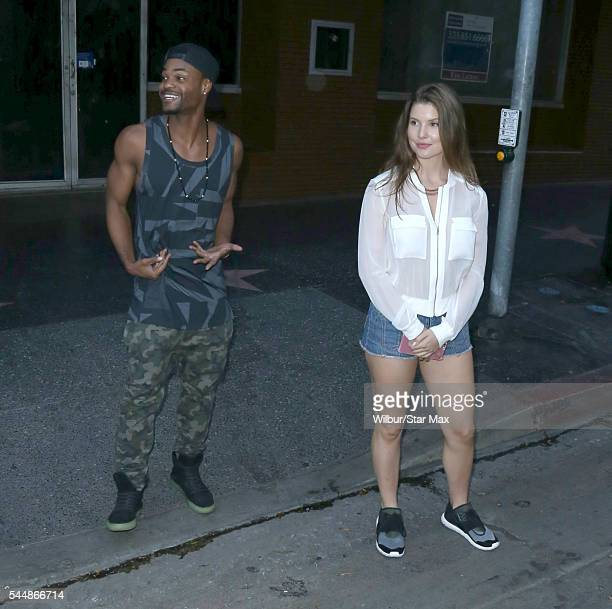 King Bach and Amanda Cerny are seen on July 3 2016 in Los Angeles California
