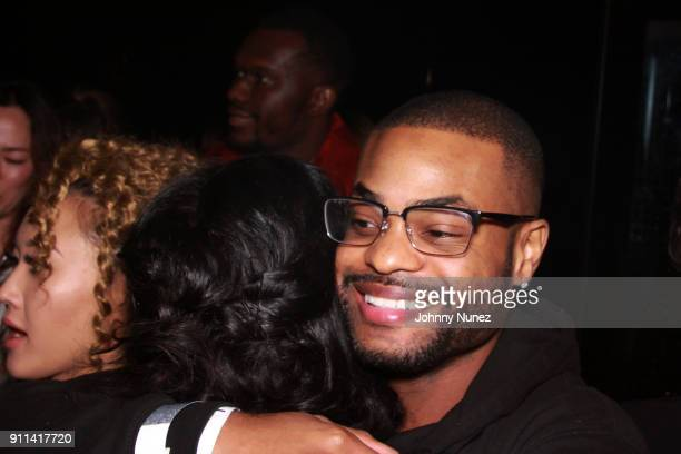 King Bach attends the Lexy Panterra PreGrammy Party at W Hotel Times Square on January 27 2018 in New York City