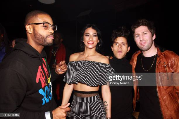 King Bach Lexy Panterra Rudy Mancuso and Matt Medved attend the Lexy Panterra PreGrammy Party at W Hotel Times Square on January 27 2018 in New York...