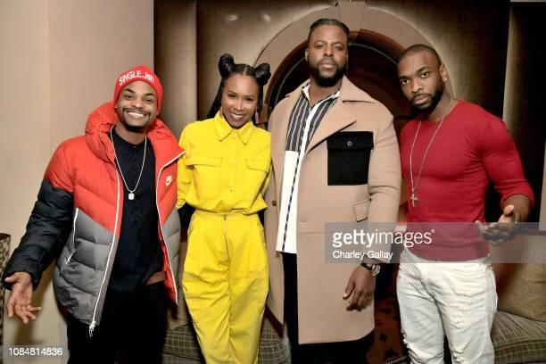 King Bach Sydelle Noel Winston Duke and Jay Pharoah attend MCM x GQ Celebrate 2018 Breakout Star Winston Duke The Restaurant at Montage Beverly Hills...