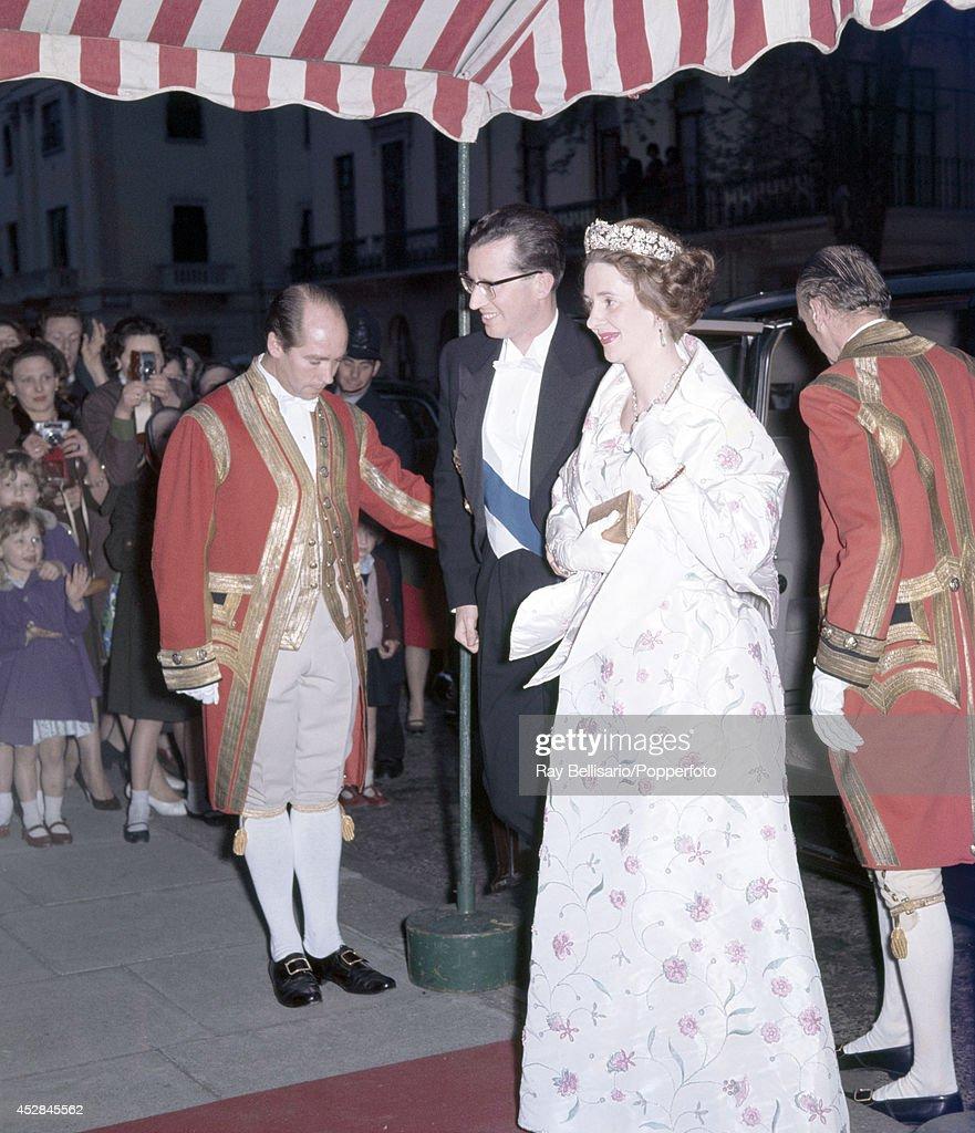 King Baudouin And Queen Fabiola Of Belgium : News Photo