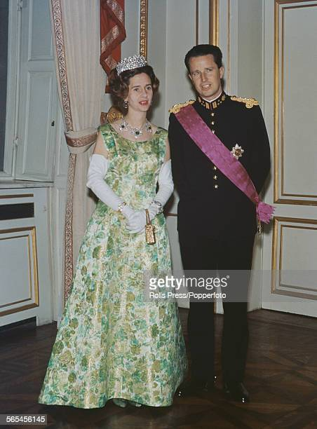 King Baudouin and Queen Fabiola of Belgium pictured together at an official engagement in 1966