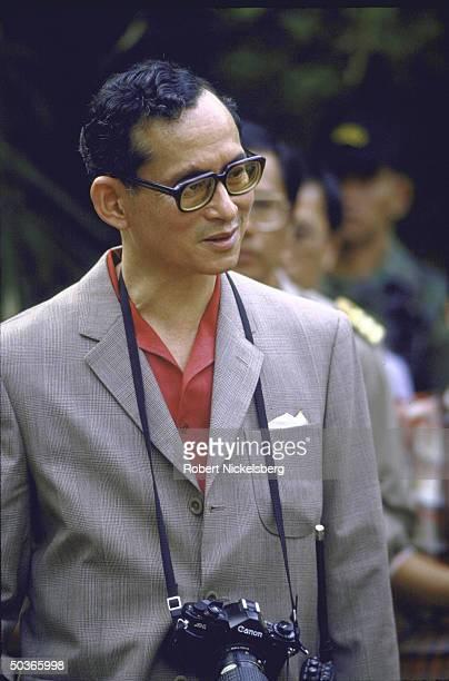 King Bhumibol Adulyadej aka King Rama visiting Chiang Mai