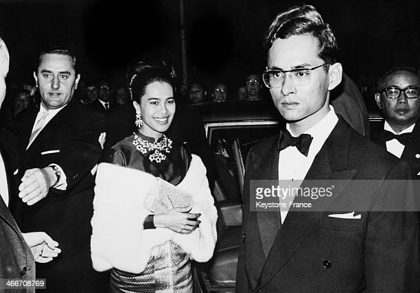 King Bhumibol Adulyadej of Thailand aka Rama IX and wife Queen Sirikit Kitiyakara