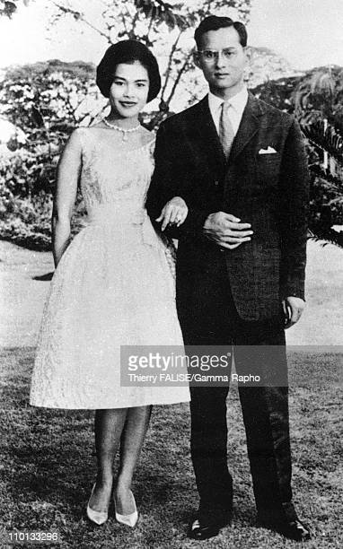 King Bhumibol and Queen Sirikit in Thailand in 1949