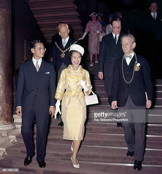 King Bhumibol and Queen Sirikit of Thailand at Lancaster House in London during a State Visit circa 1960