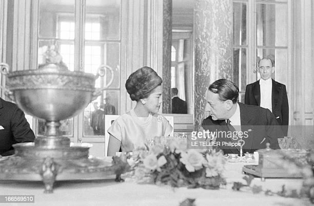 King Bhumibol And Queen Sirikit Of Thailand Official Travel In France Versailles le 22 octobre 1960 la visite officielle du roi Bhumibol de Thailande...