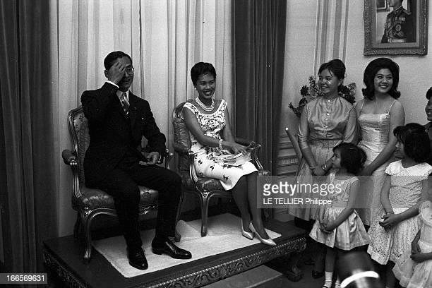 King Bhumibol And Queen Sirikit Of Thailand Official Travel In France Paris le 22 octobre 1960 la visite officielle du roi Bhumibol de Thailande et...