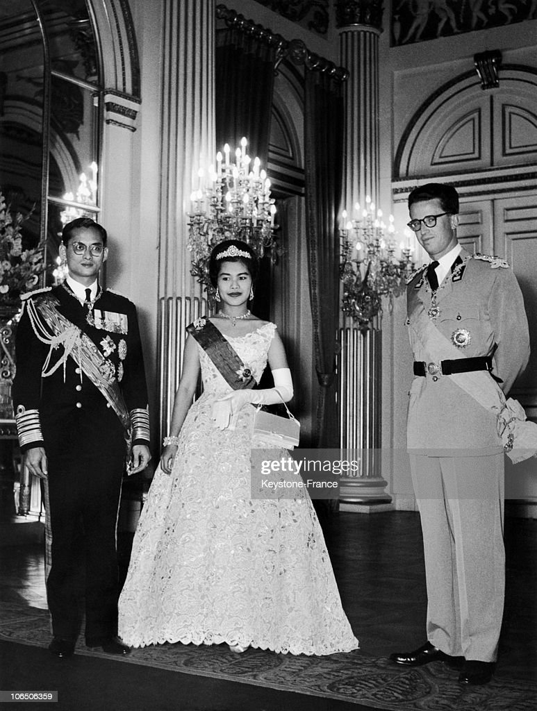 The Royal Couple Of Thailand In Belgium, 1960 : News Photo