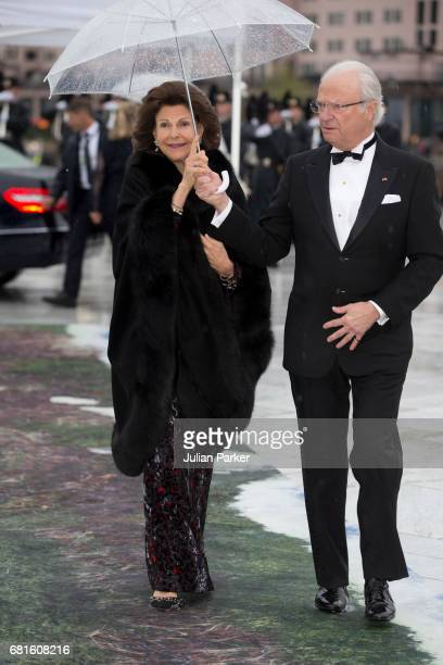 King Carl Gustaf and Queen Silvia of Sweden attend a Gala Banquet hosted by The Government at The Opera House as part of the Celebrations of the 80th...