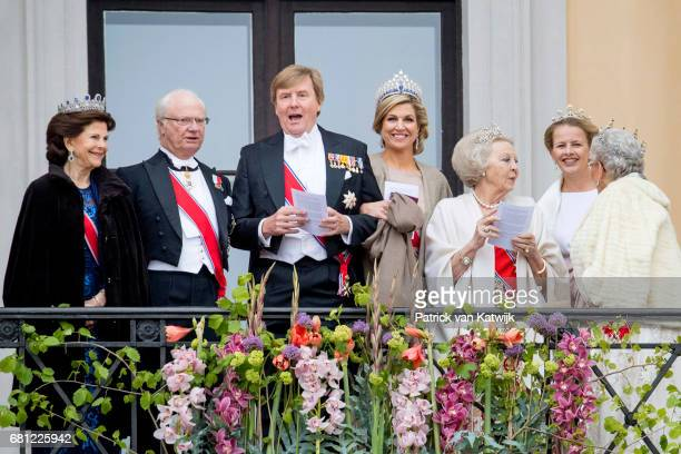 King Carl Gustaf and Queen Silvia of Sweden King WillemAlexander and Queen Maxima Princess Beatrix and Princess Mabel of The Netherlands and Princess...