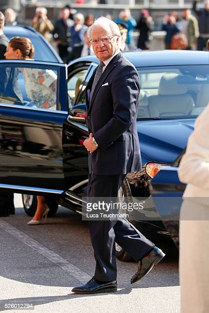 King Carl Gustaf of Sweden attends Royal Artistic Academies Arrivals at the Royal Operaon April 29 2016 in Stockholm