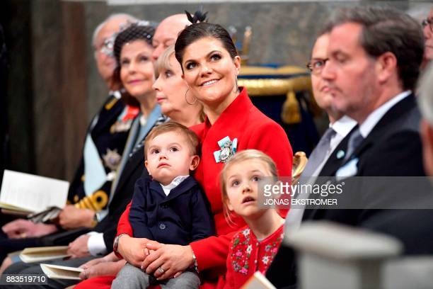King Carl Gustaf of Sweden Queen Silvia Erik Hellqvist Marie Hellqvist Crown princess Victoria with Prince Oscar Prince Daniel and Mr Christopher...