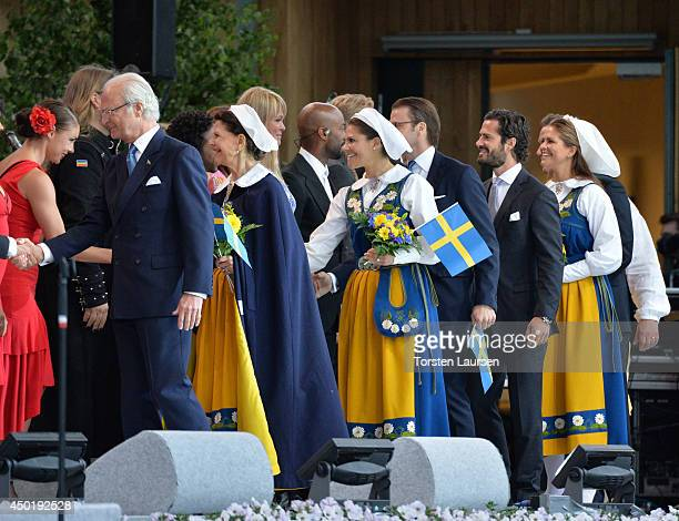King Carl Gustaf of Sweden Queen Silvia of Sweden and Crown Princess Victoria of Sweden Prince Daniel of Sweden Prince Carl Philip of Sweden and...