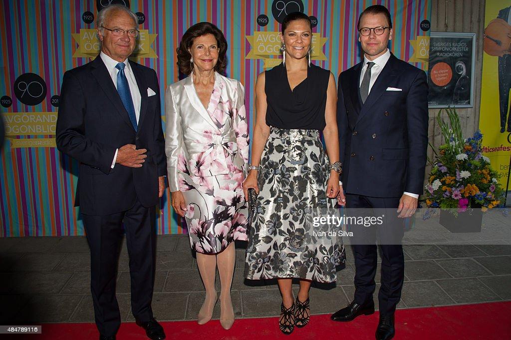 Swedish Royals Attend Radio Sweden's 90th Anniversary Celebrations : News Photo