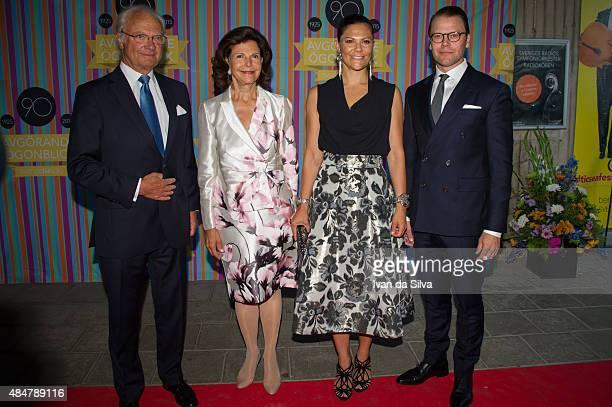 King Carl Gustaf of Sweden Queen Silvia of Sweden Crown Princess Victoria of Sweden and Prince Daniel of Sweden attend Radio Sweden's 90th...