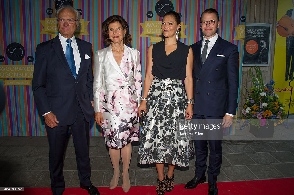 Swedish Royals Attend Radio Sweden's 90th Anniversary Celebrations : News Photo