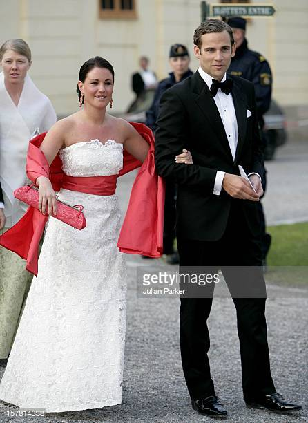 King Carl Gustaf Of Sweden'S 60Th Birthday Celebrations.Emma Pernald & Jonas Bergstrom Attend A Gala Dinner At Drottningholm Palace.